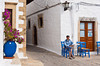 The whitewashed streets of Chora on the Greek island of Patmos.