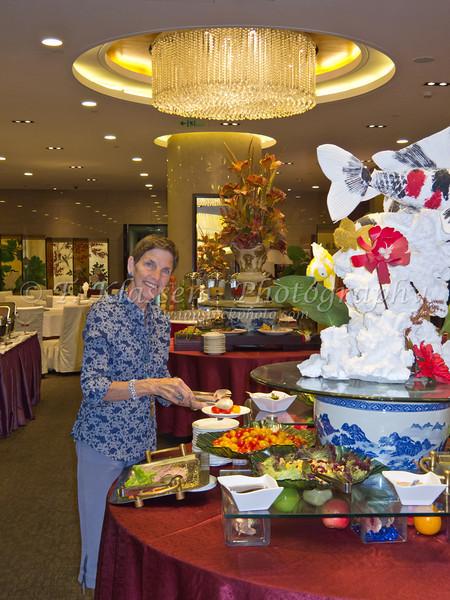 Breakfast buffet at the Hua Bin Hotel in Beijing, China.