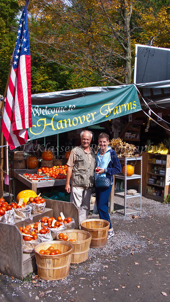A Alice and Rogers fruit and vegetable roadside stand in Mount Tremper, New York, USA.