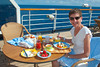 Lunch on deck on the Holland America Cruiseship Westerdam.