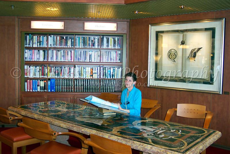 In the library on the Holland America Cruiseship Zaandam.