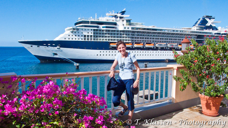 In Dominica with the cruise ship Celebrity Millennium 2010.