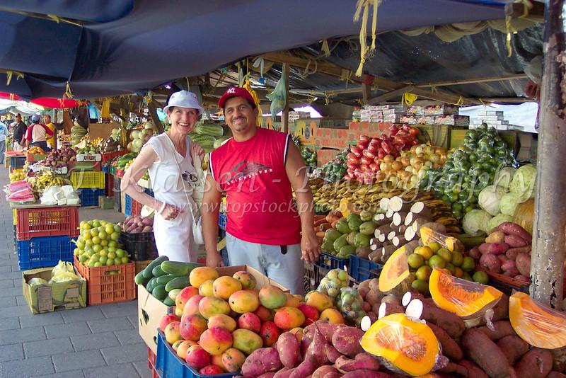 At the Punda floating market in Willemstad, Curacao, Netherlands Antilles.