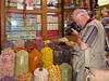 Terry photographing the produce in the Spice Market in Dubai, United Arab Emirates.