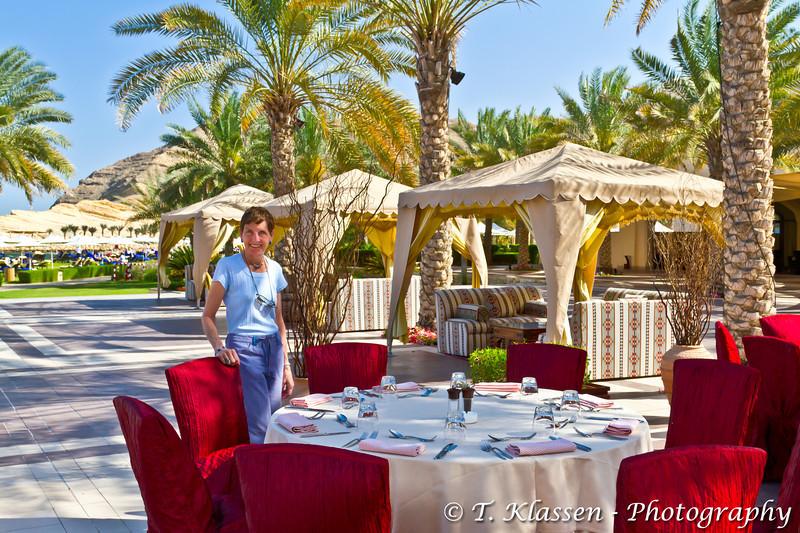 At the Barr Al Jissah resort in Muscat, Sultanate of Oman.