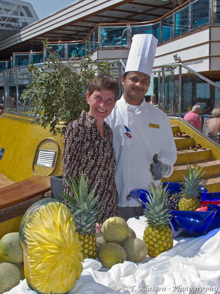 On the Costa Deliziosa cruise ship in the Persian Gulf.