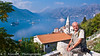 Travel photographer, Terrance Klassen on a hillside overlooking Kotor Lake, Montenegro.