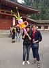 With our private guide in Xing Qing Park, Xian, China.