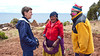 Conversation with a Peruvian elderly couple on Taquile Island in Lake Titicaca.