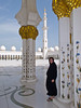 In Muslim dress at the Sheikh Zayed Grand Mosque in Abu dhabi, UAE.