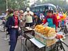 Strteet food in Xing Qing Park, Xian, China.