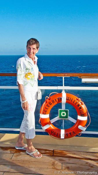 On the cruise ship Celebrity Millennium 2010.