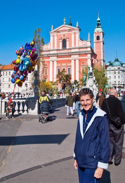 Ljubljana, the capital of Slovenia.