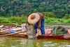 Fishing in the Yen River near Hanoi, Vietnam, Asia.