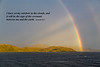 A rainbow in the Beagel Channel, South America.