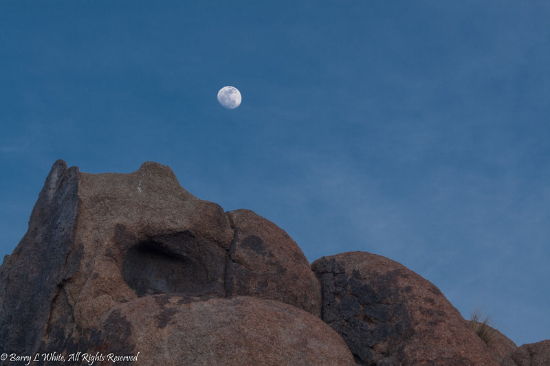 Moon over Alabama Hills
