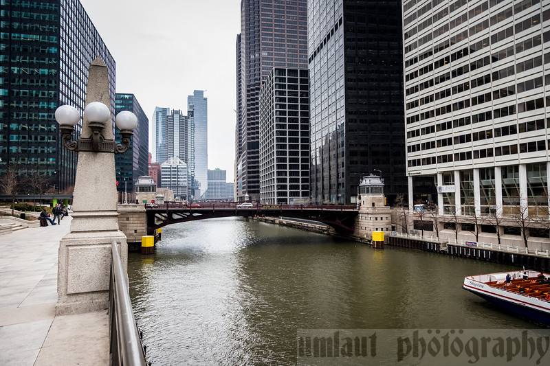Adams St. Bridge.  One of the many bridges along the Chicago river.   In the short time I was outside of Union Station, 3 boat tours went through.  The city does a yearly bridge lift calendar to get boats out of inner Chicago to the lake.