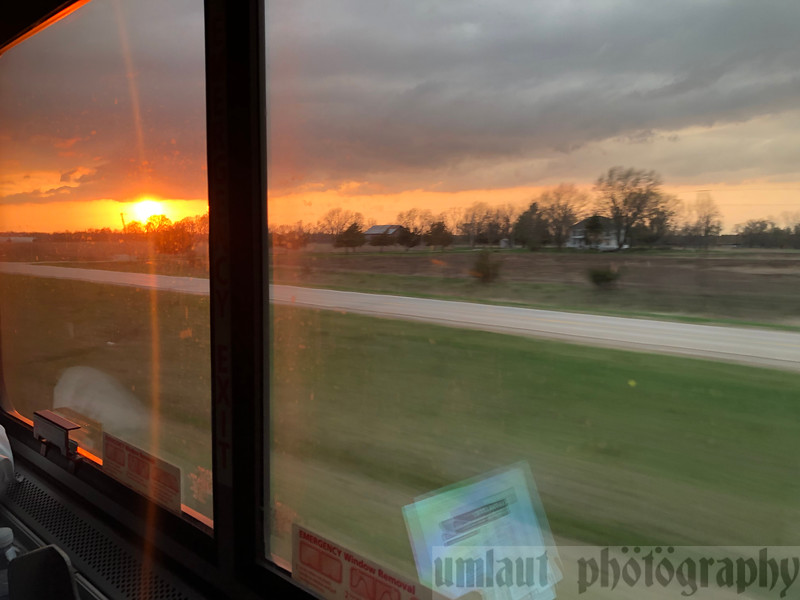 After dinner it was back to my roomette in time to catch the upcoming sunset.  And I was definitely treated with an amazing sunset.