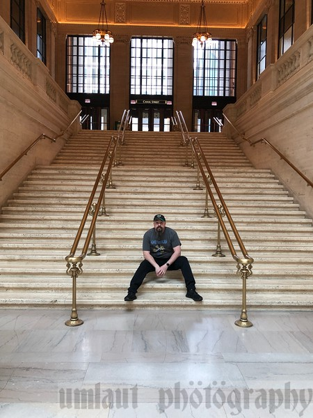 "Have you ever seen the 1987 movie, ""The Untouchables""?<br /> This is the staircase used in the shootout scene where the stroller bounces down the stairs during the shootout."