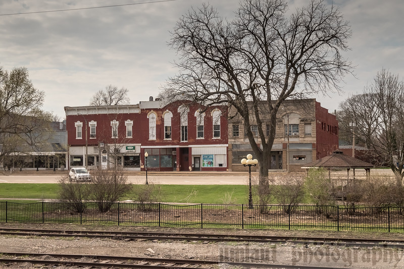 Malden, IL.<br /> Many of the small towns looked like they came right out of the model train set I had built with my son years ago.  It was as if every town we passed, the model companies picked a building to use as reference.
