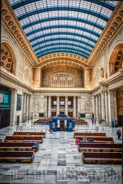Inside the Great Hall of Union Station. The hall was recently renovated in 2017.
