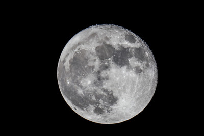Full Moon on a cold winter night. Full frame on a 2000 mm lens (Telescope)