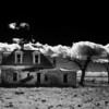 Infrared Abandoned New Mexico Building