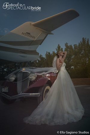 Bride with Classic Car 15