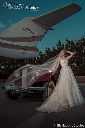 Bride with Classic Car 16