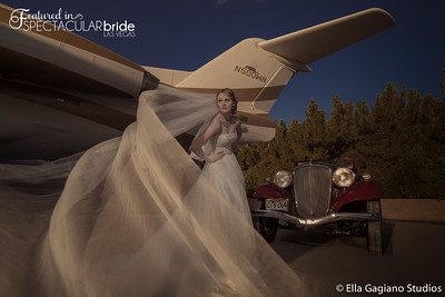 Bride with Classic Car 14
