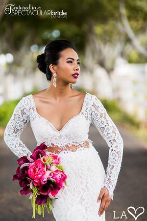 bride on driveway 10