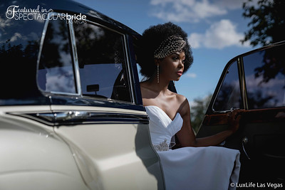 Bride With Classic Car 18