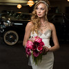 bride with classic car 4