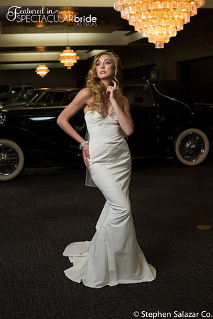 bride with classic car 09