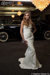 bride with classic car 12