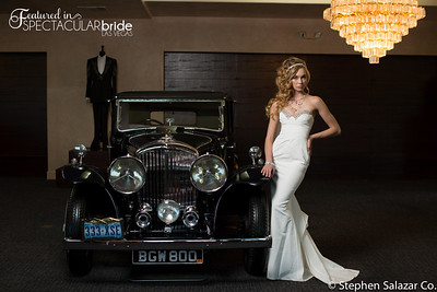 bride with classic car 03