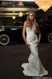 bride with classic car 10
