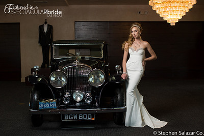 bride with classic car 02