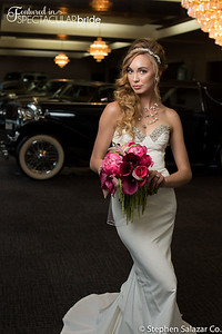 bride with classic car 06