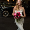 bride with classic car 6