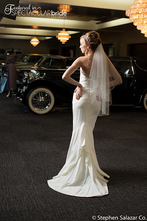bride with classic car 05
