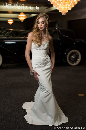 bride with classic car 08