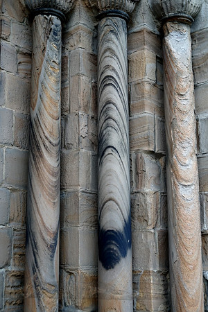 Weather Worn Pillars at Durham Cathedral