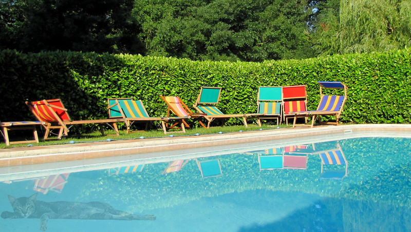 Chairs by the Pool