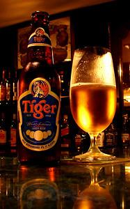 A Tiger Beer in Kuala Lumpur