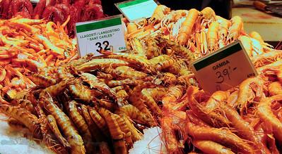 Prawns in a Barcelona Market