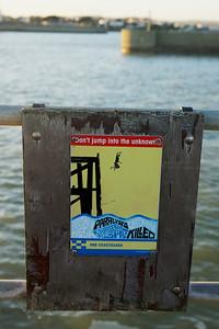 A Warning Sign - Don't Jump...