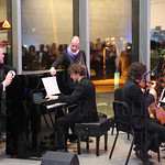 The Louisville Orchestra performed in the atrium.
