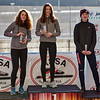 Podium Mass Start Juniors: Anna Molnar (2nd), Anna Petutschnigg (1st), Zuzana Kursova (3rd)