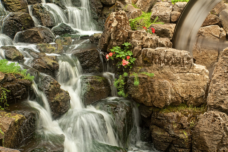 Millstadt Falls water wheel